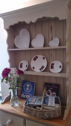Very Shabby Chic Solid Pine Welsh Dresser, in Annie Sloan Country Grey