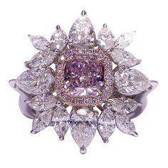 Exclusive Fancy Pink Diamond Ring via #Pinterest Rings