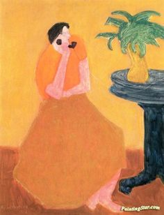 Party Line Artwork by Milton Avery Hand-painted and Art Prints on canvas for…