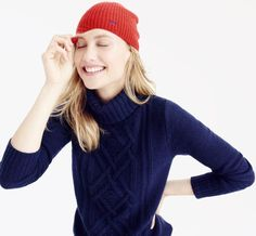 J.Crew offers a whole slew of monogram-able items in its online monogram shop.   Everything from tissue-thin turtleneck tops ($45) to a ribbed cashmere beanie ($78) can be embroidered for $10.