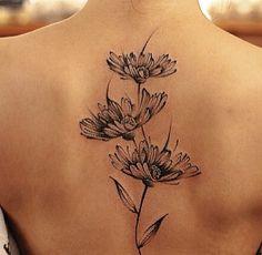 Flor nas costas - black