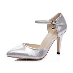 Women's Pumps Closed Toe Heels Stiletto Heel Leatherette Shoes (1625096667)