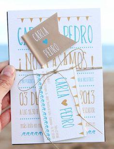 Las invitaciones de la boda se deben enviar al menos con 6 semanas de antelación y no más allá de 3 meses antes