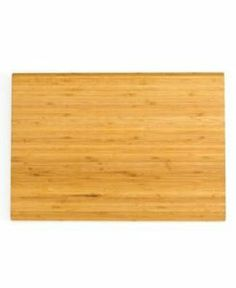 """Martha Stewart Collection Bamboo Cutting Board, 14"""" x 20"""" . $29.99. natural long-grain bamboo cutting board. Marth Stewart. Won't dull your knives. Natural materials not only lend a charming, rustic air to your countertop, they're also gentle on your knife edges. This cultured cutting board is finely crafted from natural long-grain bamboo - both lightweight and exceptionally tough - for perfect prep and protection. Limited lifetime warranty."""
