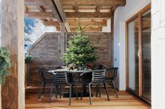 Nothing but a Christmas tree! Decor, Lodge, Apartment, Room Divider, Christmas Tree, Furniture, Home Decor, Room