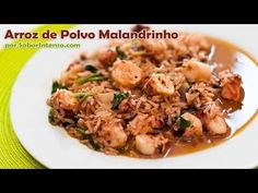 Seacoast Food Critic: Portuguese Rice with Octopus (Arroz com Polvo) Fish Recipes, Seafood Recipes, Great Recipes, Vegetarian Recipes, Portuguese Recipes, Portuguese Food, My Favorite Food, Favorite Recipes, Around The World Food