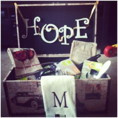 "A ""Hope Chest"" contains items that you are collecting for your future. It's filled with hopes and dreams, and whatever else you think you may need in future things of your life.  I made this for my sister with items that she will be needing when she moves out. :)"