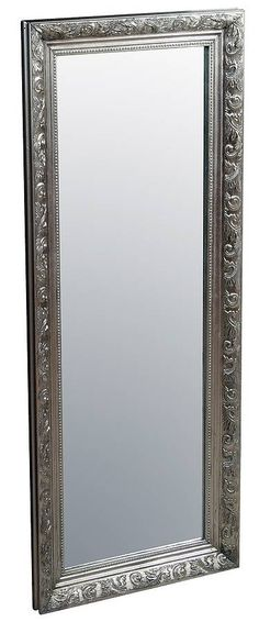 French style Antiqued Silver Floor Standing Mirror (UK site ...