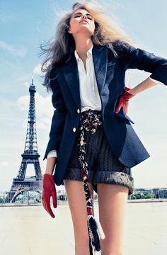 "Life in pics: Editorials: ""À la Parisienne"" - Taryn Davidson by Txema Yeste"