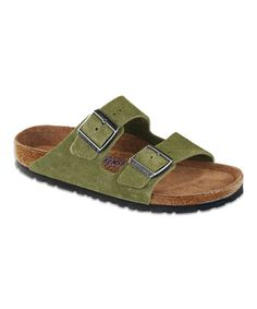 8161a5e86a85 Take a look at this Birkenstock Avocado Suede Arizona Slide - Women   Men  on zulily