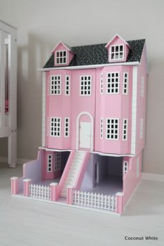 Coconut White - Pink doll house