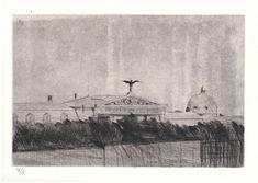 Kamil Lhoták: Architektura II._1953, suchá jehla Painting, Art, Art Background, Painting Art, Kunst, Paintings, Performing Arts, Painted Canvas, Drawings
