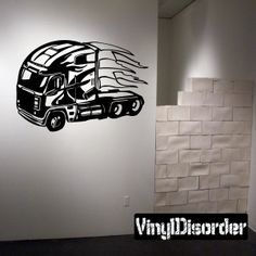 Semi Truck Wall Decal - Vinyl Decal - Car Decal - DC 019