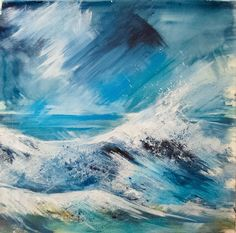 Surf and Spray. Mixed media on paper 55x55cm
