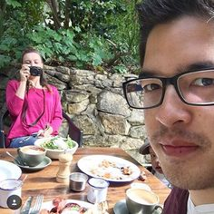 """""""She ordered twice as much as she could actually eat. Reason-- The colors of the different foods would offset the brown of those giant mugs in a photo. Oh the life."""" -M. Fong (@mrmattfong) #instagramhusband"""