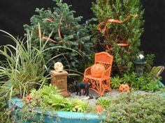 Halloween in the Miniature Garden - #miniaturegarden #halloween