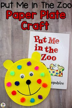 Your kids will fun creating this book-inspired, Put Me In The Zoo Paper Plate Craft to look like the main character, Spot in the book.