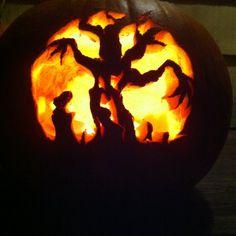 Last year's carved pumpkin
