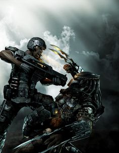 Predator (PC) supposed to kick consoles' ass - at least technology wise - Aliens vs. Predator: Screenshots of the forthcoming DirectX 11 game Alien Vs Predator, Predator Movie, Predator Alien, Science Fiction, King Kong, Gi Joe, Crossover, Comics, Knight