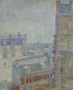 View from Theo's Apartment Paris, March - April 1887 Vincent van Gogh (1853 - 1890) oil on canvas, 45.9 cm x 38.1 cm Van Gogh Museum, Amsterdam (Vincent van Gogh Foundation)