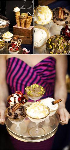 ice cream parlour wedding  staying cool at weddings  via 100 layer cake