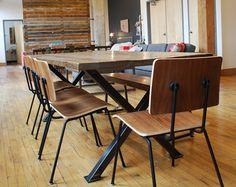 Table à manger bois avec plateau en bois par UrbanWoodGoods sur Etsy