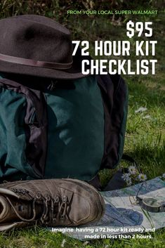 Not sure where to start with your 72 hour kit?  Follow this simple list for beginners and have your kit built in less than 2 hours.  1 hour for shopping, and 1 to put it together.  | 72 hour kit printable | bug out bag checklist | easy preparedness kit |