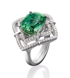Peacock Tourmaline Ring by Boodles
