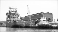 Towing a ship @ Malpey Port, Coastal Karnataka.
