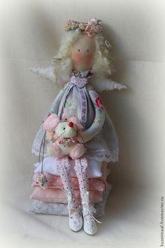 Человечки ручной работы. Ярмарка Мастеров - ручная работа Цветочный ангел №2. Handmade.