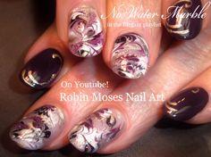 Marble Nails without Water Nail Art! #nails #nailart #nail #art #design…