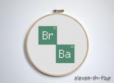 Breaking Bad Logo Cross Stitch Pattern PDF by elevenohfour on Etsy