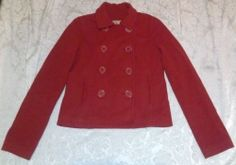 $17.99 Red Ambercombie Fitch East Coast Vintage Wool Double Breast Pea Coat Jacket XS | eBay *!* GET PAID TO PIN *!* pincredibles.com/?r=Tina4Music#sthash.61AN5sGr.dpuf