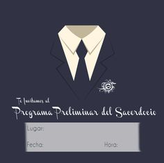 Invitación al programa preliminar del Sacerdocio