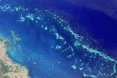 Photo: The Great Barrier Reef from space