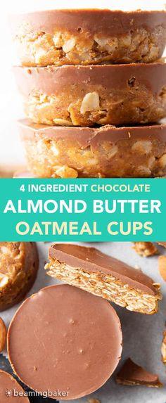 Almond Butter Snacks, Almond Butter Cookies, Peanut Butter No Bake, Chocolate Almond Butter Recipe, Almond Butter Smoothie, Vegan Desserts, Delicious Desserts, Dessert Recipes, Dessert Ideas