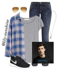 """Seeing Shawn Mendes in concert tomorrow"" by lily-sunshine ❤ liked on Polyvore featuring Current/Elliott, Acne Studios, Madewell, NIKE, Yves Saint Laurent and Ray-Ban"