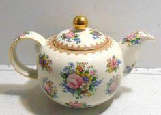Royal Albert Fine China Teapot - Pink Rose Teapot w/ Gold