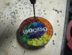 Resin Obsession - Rainbow Candy Name Pendant Tutorial