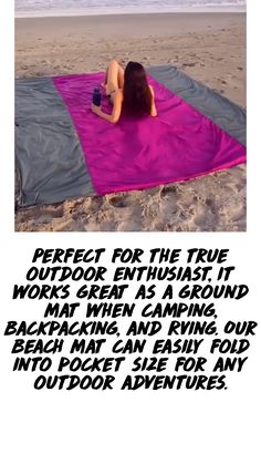 Backpacking, Camping, Daily Hacks, Free Beach, Us Beaches, Spring Sale, Car Parts, Beach Mat, Outdoor Blanket