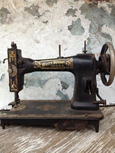 Antique Sewing Machine/Vintage Sewing by MarchHareMade on Etsy, $75.00