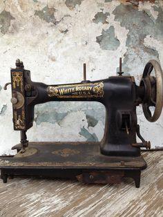 Antique Sewing Machine/Vintage Sewing Machine/Steampunk Decor/Victorian Decor/Industrial Decor/Shabby Chic Decor on Etsy, $68.00