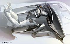 Car Interior Design, Interior Sketch, Interior Concept, Auto Design, Tiger Face, Korean Brands, Head Up Display, Global Design, Trd