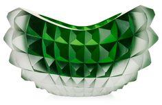 ** Mårten Medbo 'Core' deep cut 'hot worked and cut glass' bowl, Ajeto, Czech Republic 2008, made by Miroslav Barkovský and Stanislav Cais.