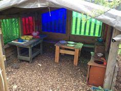 Mud pie kitchen in the nursery garden at Alfreton Nursery School ≈≈