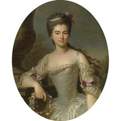 Portrait of a woman by Antoine Vestier. 18th century. [credit: Sotheby's]