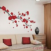 Elegant Cherry Blossoms Wall Decal Branch – evgie