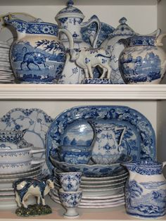 Kitchen Accessories ~ Blue & White  www.lindafloyd.com