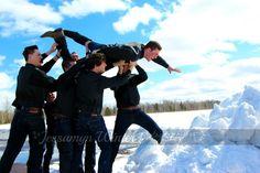 Cade & his groomsmen wedding photo by Jessamyn Winter Photography.
