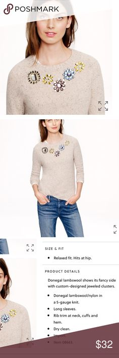J.crew jeweled sweater Excellent condition J. Crew Sweaters